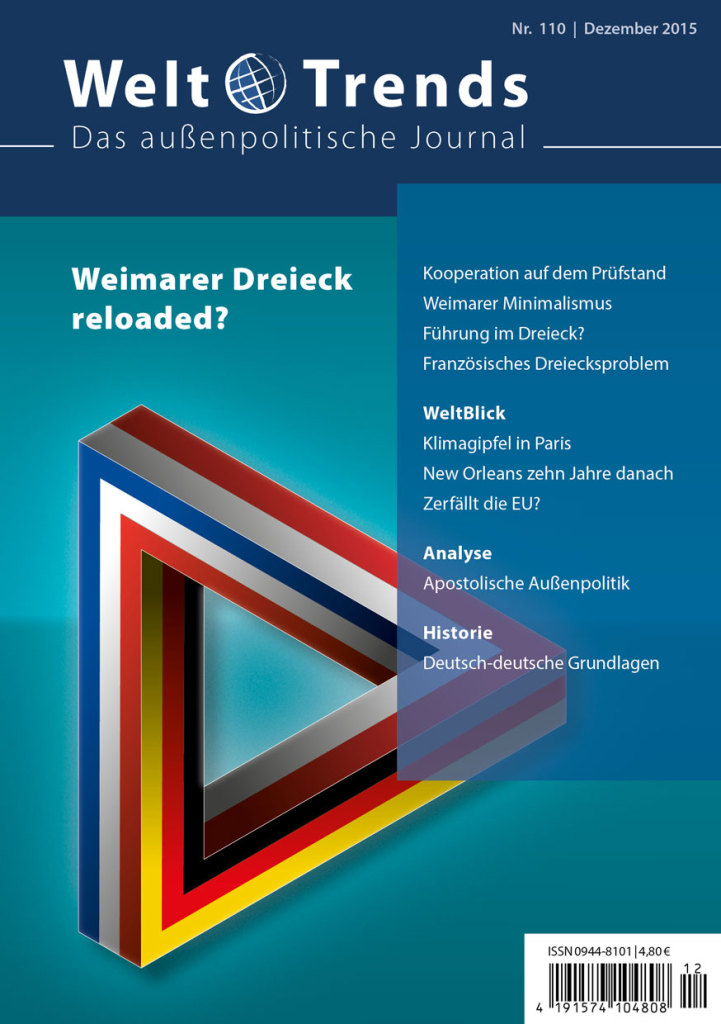 WeltTrends 110: Weimarer Dreieck reloaded?, Cover