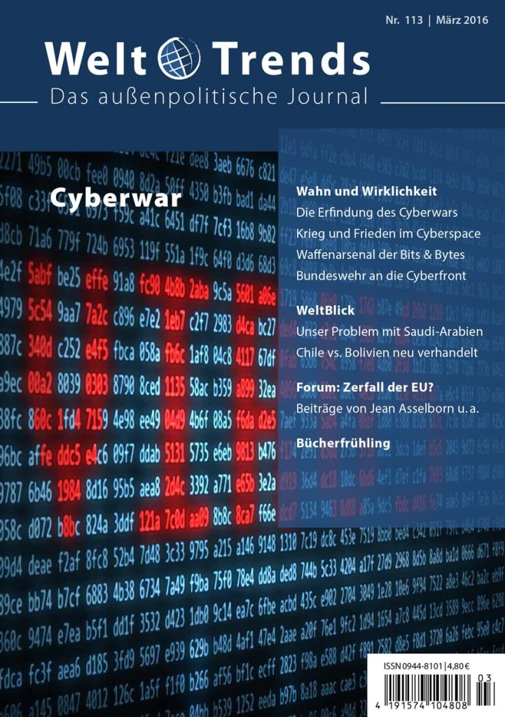WeltTrends 113 – Cyberwar, Cover