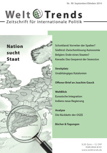 WeltTrends 98: Nation sucht Staat, Cover